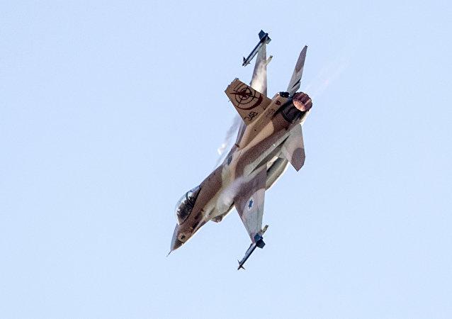 Un avión israelí F-16 (archivo)
