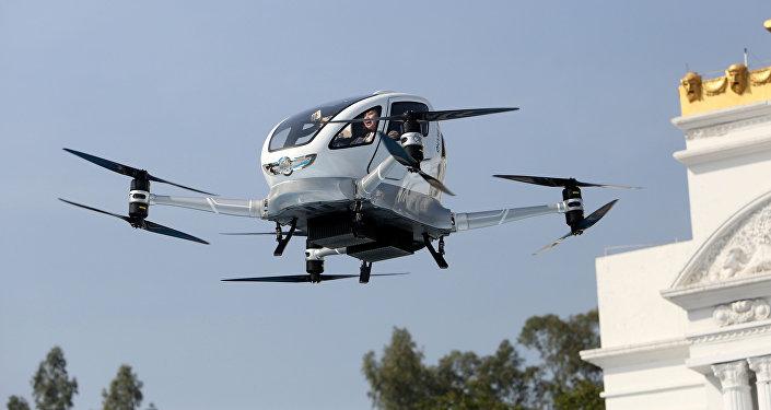 Un dron de pasajeros Ehang 184
