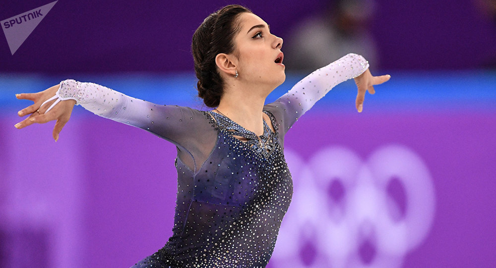 La patinadora rusa Evguenia Medvédeva