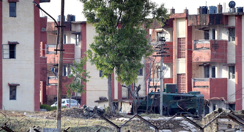 La zona residencial del campamento militar de Sunjuwan, en el estado indio de Jammu y Cachemira