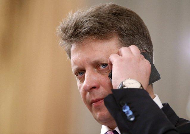 El ministro de transporte ruso Maksim Sokolov