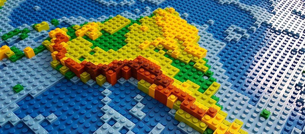 Mapa de América Latina, hecho con Lego (imagen referencial)