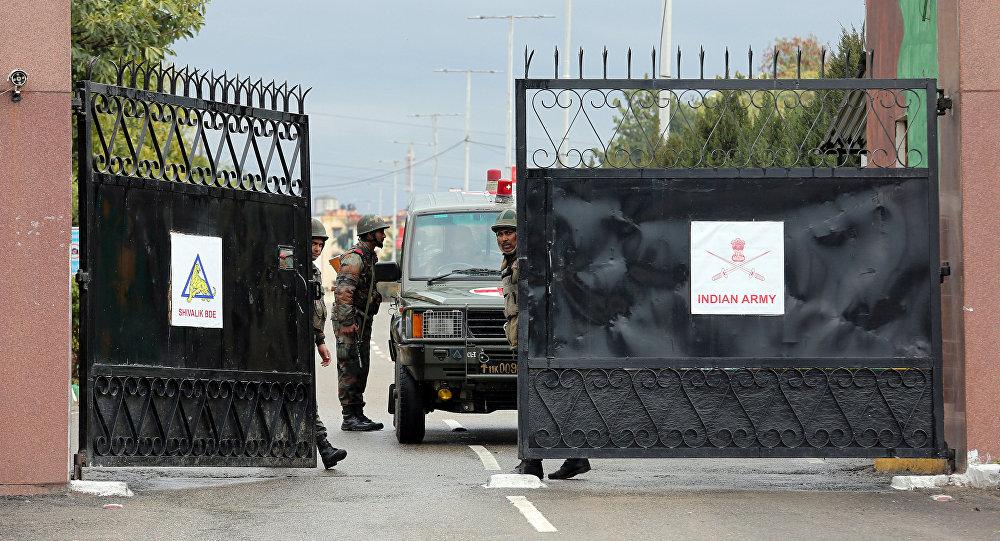 Campamento militar en Sunjuwan, en el estado indio de Jammu y Cachemira