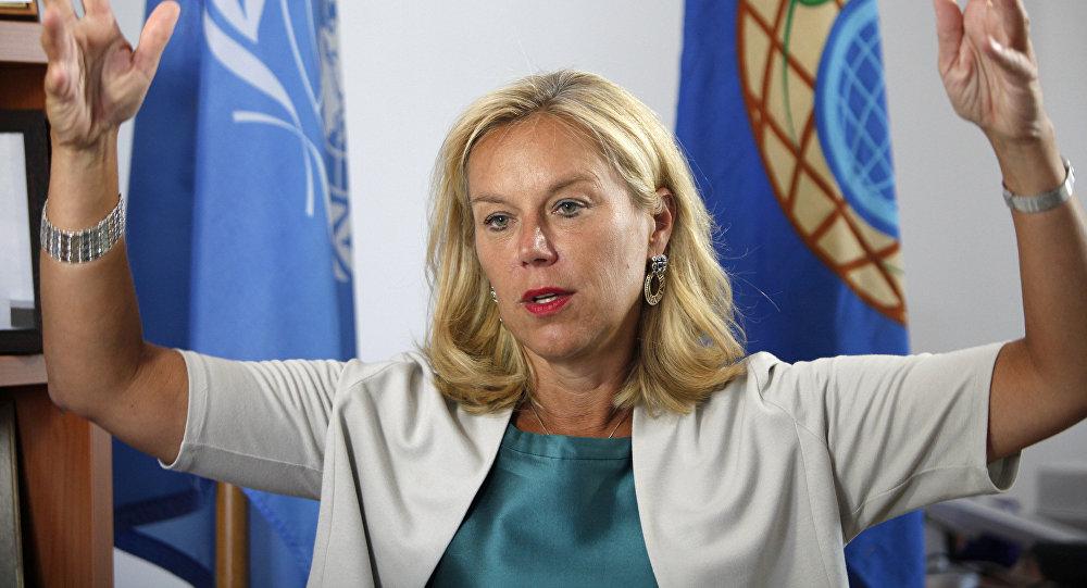 La ministra de Comercio Exterior y Desarrollo de la Cooperación de Holanda, Sigrid Kaag