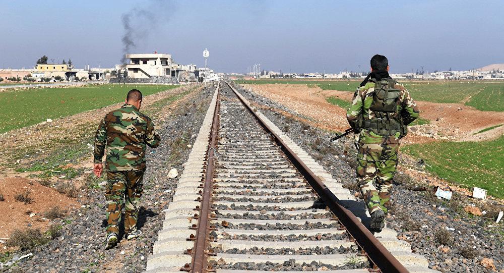 Los militares del Ejército en el ferrocarril en Siria (imagen referencial)