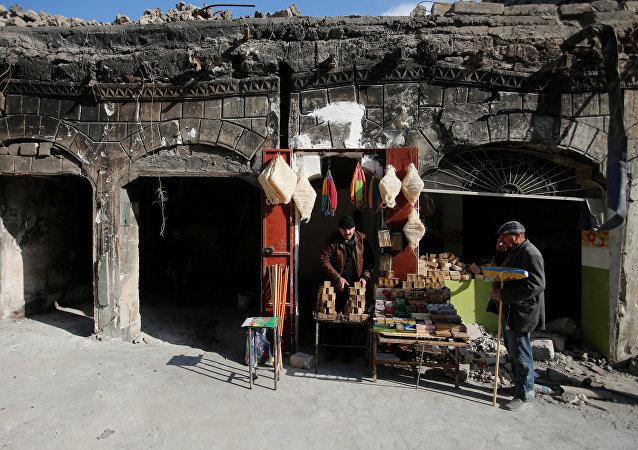 Vendedores de jabón en Irak (imagen referencial)