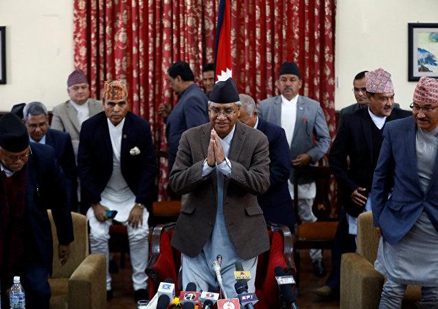 Sher Bahadur Deuba, el primer ministro de Nepal