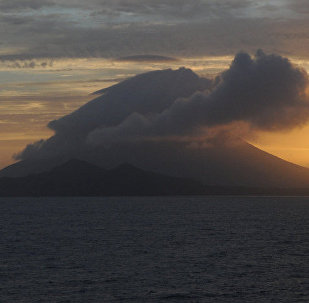 La isla de Kikai, cerca de la caldera homónima