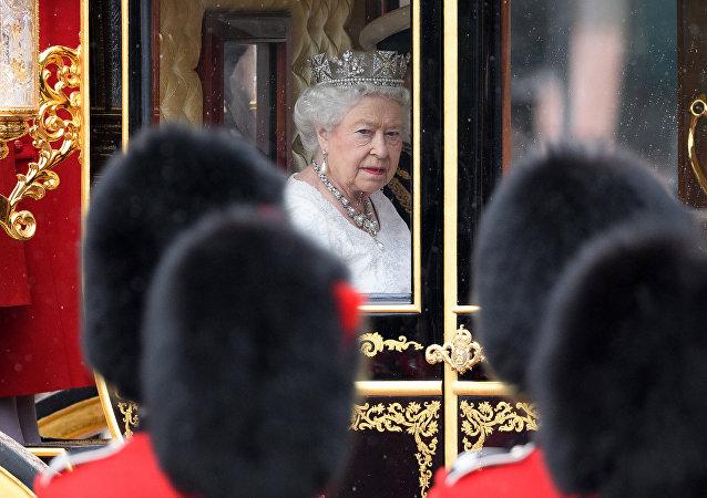 La reina Isabel II, foto de archivo