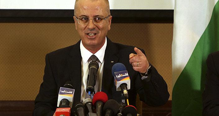 Rami Hamdallah, el primer ministro palestino (archivo)