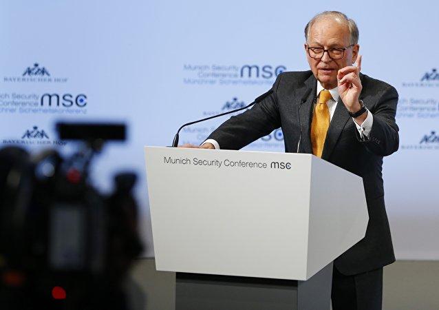 Wolfgang Ischinger, diplomático alemán, durante la inauguración de la 54 Conferencia de Seguridad de Múnich
