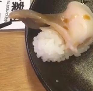 Increíble: un sushi tan fresco que incluso se mueve