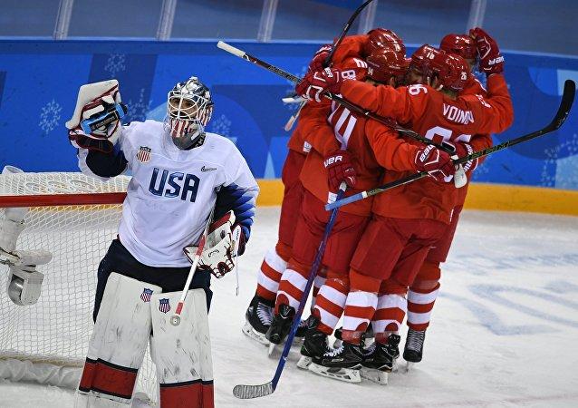 La selección rusa de hockey sobre hielo en los JJOO de Invierno