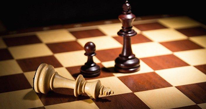 Un tablero de ajedrez