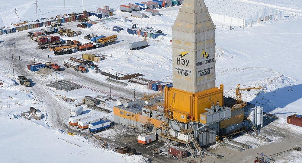 Equipo de perforación en un yacimiento de gas natural en el Lejano Oriente ruso (archivo)