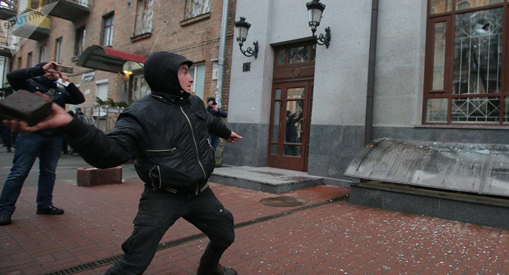 La acción antirrusa de los radicales en Kiev