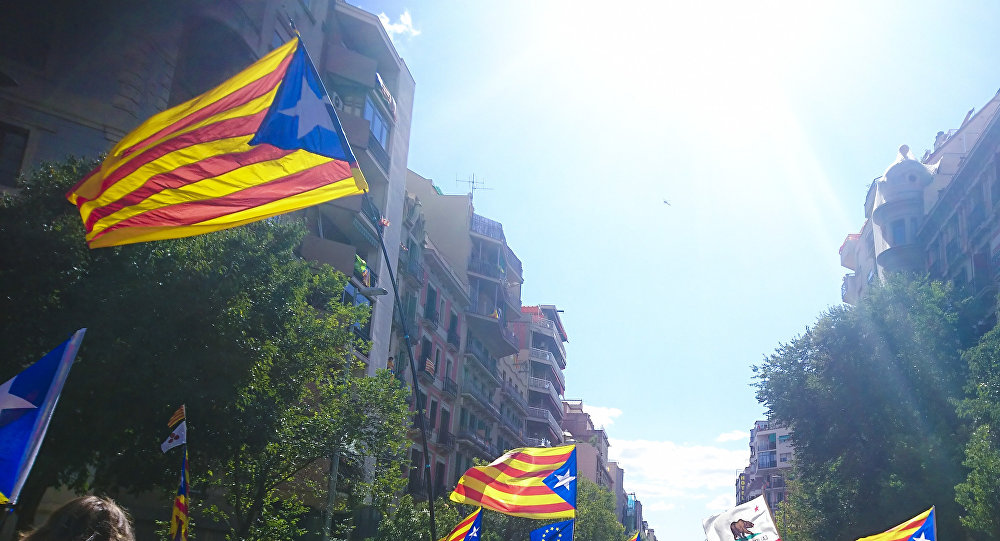 'Esteladas', banderas independentistas de Cataluña (imagen referencial)