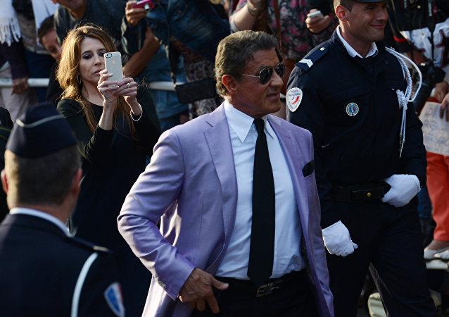 Sylvester Stallone en el Festival de Cine de Cannes (archivo, 2014)