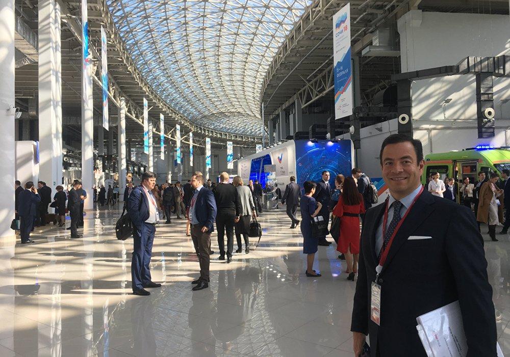 Paulo Carreño King, el jefe de ProMéxico, en el Foro de Inversiones de Sochi el 15 de febrero de 2018