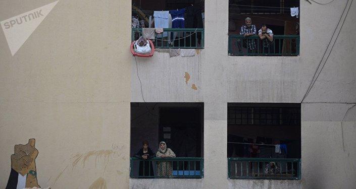 Refugiados palestinos del campo Yarmuk en Damasco, Siria (archivo)