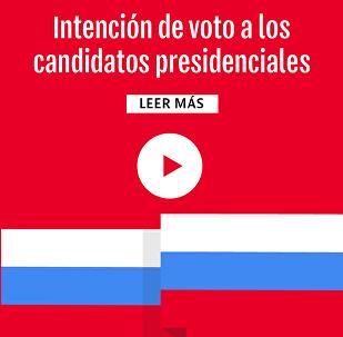 Intención de votos a los candidatos presidenciales