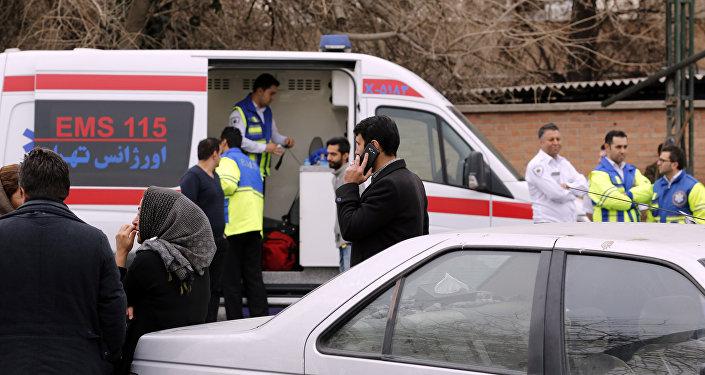 La búsqueda del avión siniestrado en Irán