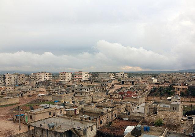 La ciudad kurda de Jandairis cerca de la frontera sirio-turca, al oeste de la ciudad de Afrín