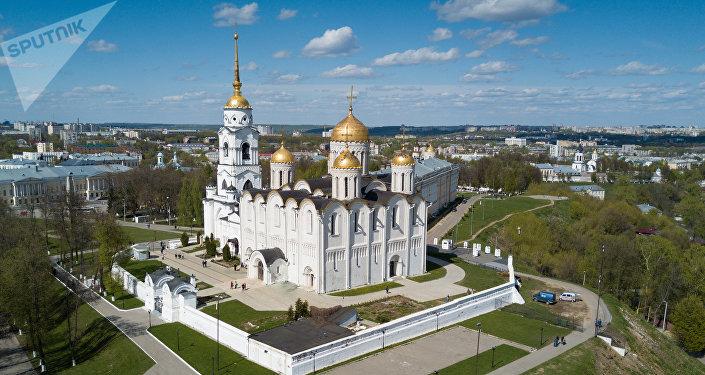 La catedral de la Dormición en Vladímir, parte del Patrimonio de la Humanidad de la Unesco