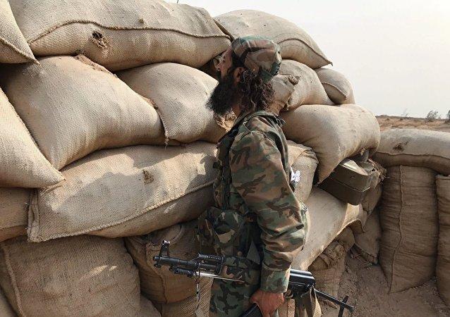 Un miliciano sirio (archivo)