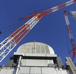 Sarcófago sobre el reactor de la central nuclear japonesa Fukushima-1 (archivo)
