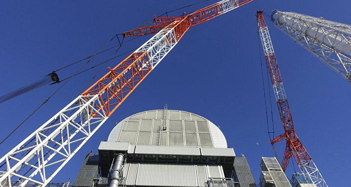 Sarcófago sobre el reactor de la central nuclear japonesa Fukushima-1
