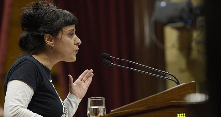 Anna Gabriel, la exdiputada catalana de la Candidatura d'Unitat Popular (CUP)