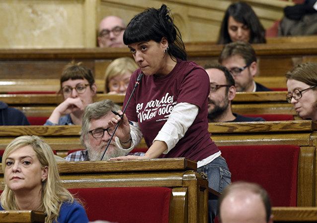 Anna Gabriel, la exdiputada catalana