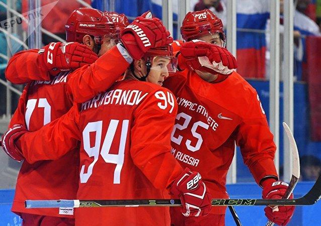 La selección rusa de hockey sobre hielo