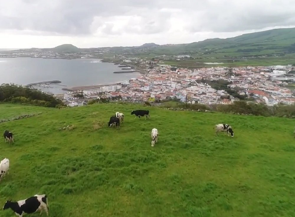Base aérea estadounidense Lajes Field en las islas Azores