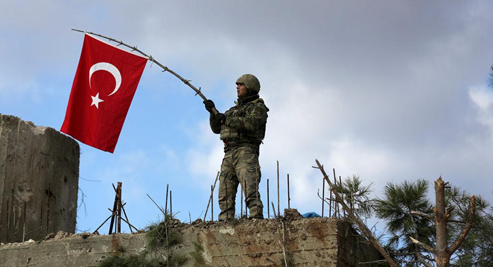 Un militar turco en Afrín
