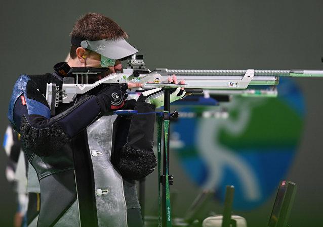 El deportista Vladímir Máslennikov en los XXXI Juegos Olímpicos en Río de Janeiro