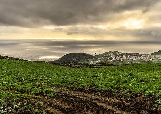 La isla Terceira, Azores