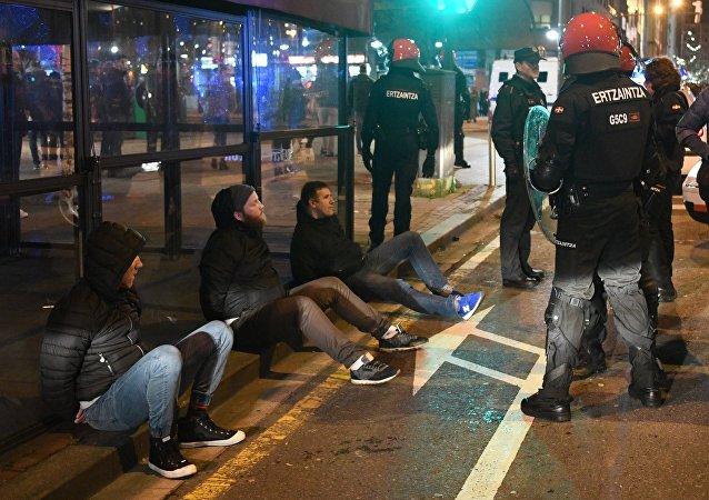 Hinchas detenidos en Bilbao