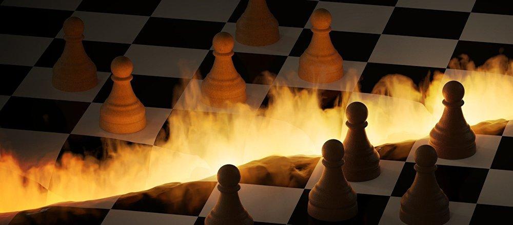 El tablero de ajedrez en fuego