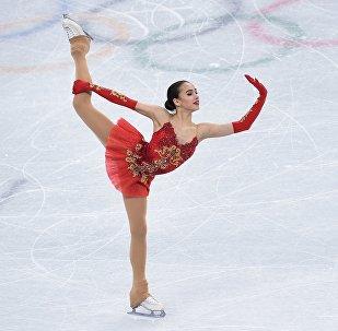 La patinadora rusa Alina Zaguítova