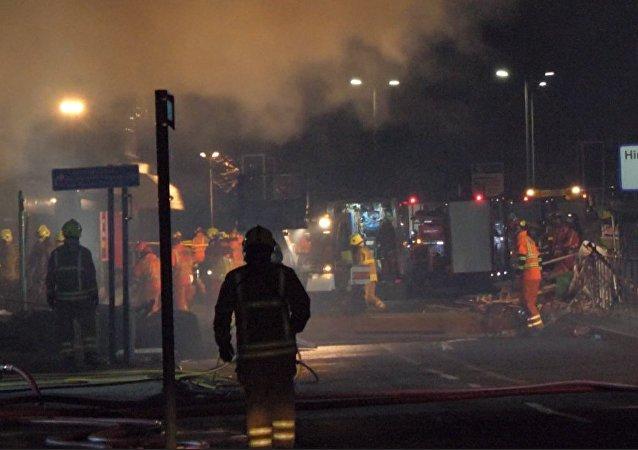 Explosión en Leicester: imágenes  de la escena del accidente