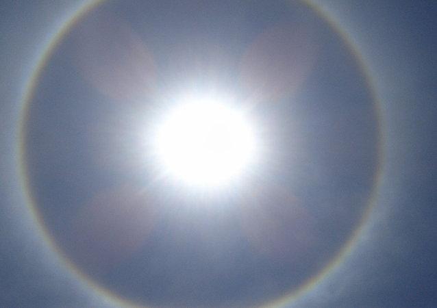 Halo solar (imagen referencial)