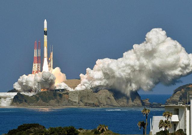 Lanzamiento del cohete H-IIA japonés