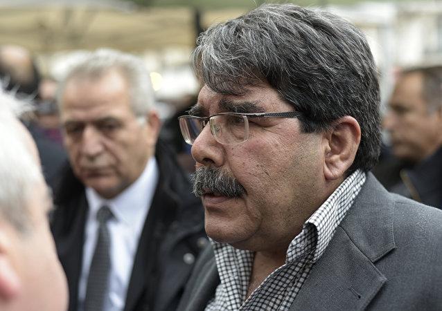 Saleh Muslim Muhammad, copresidente del kurdosirio Partido de la Unión Democrática (PYD)