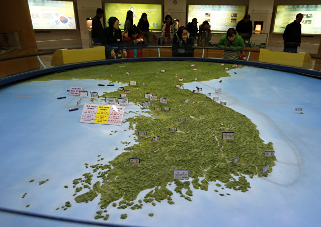Un mapa de la península de Corea