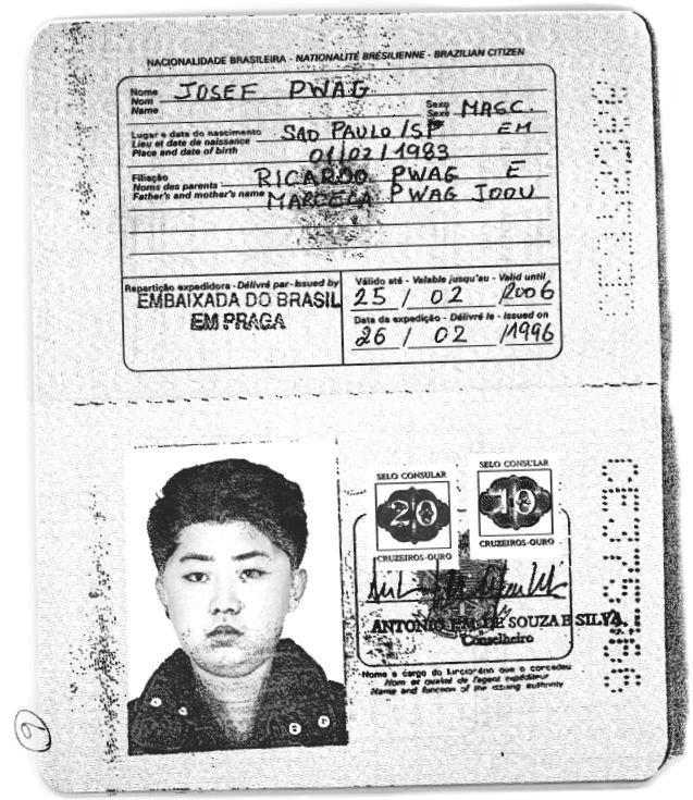 Un pasaporte brasileño auténtico expedido al líder de Corea del Norte, Kim Jong-un