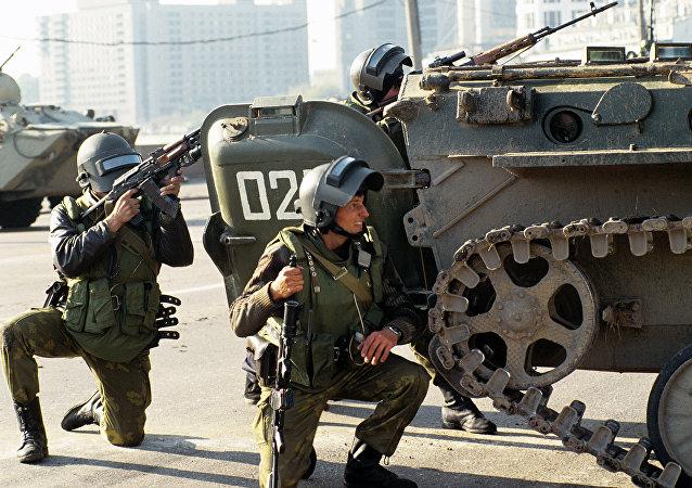 Los militares del grupo antiterrorista Alfa