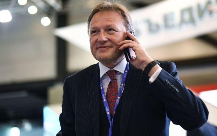 El Defensor del Empresariado ruso, Borís Titov, en el Foro Económico Internacional de San Petersburgo en 2017