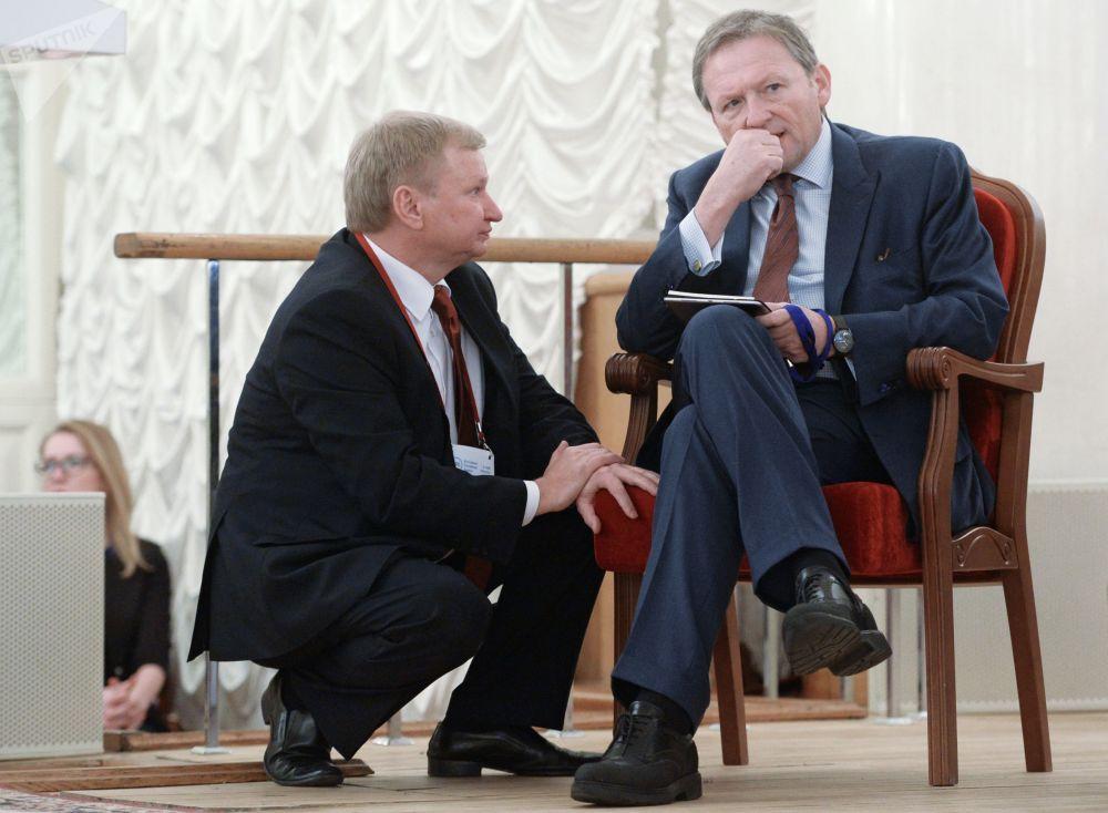 El Defensor del Empresariado ruso, Borís Titov, en el congreso de la Asociación de Bancos de Rusia